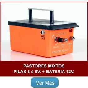 pastores Mixtos Pilas + Batería 12v.