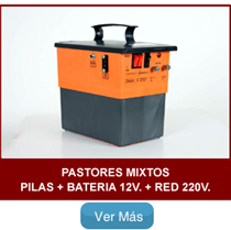 Pastores zagal mixtos pilas bateria 12v y red